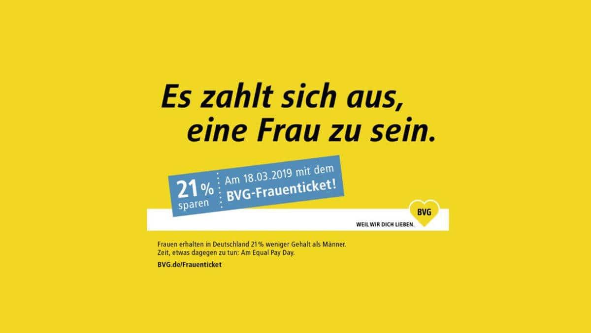 RVM soll sich ein Beispiel an Berlin nehmen: vergünstigte Nahverkehrstickets für Frauen am Equal Pay Day