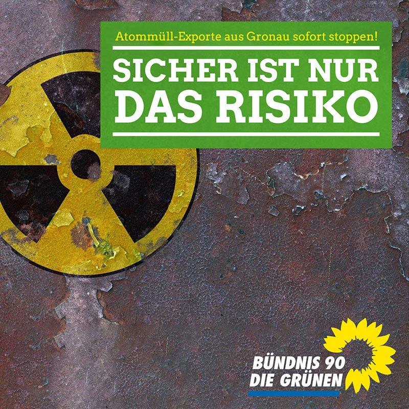 Grüne fordern sofortigen Stopp der Uranmüllexporte von Gronau nach Russland