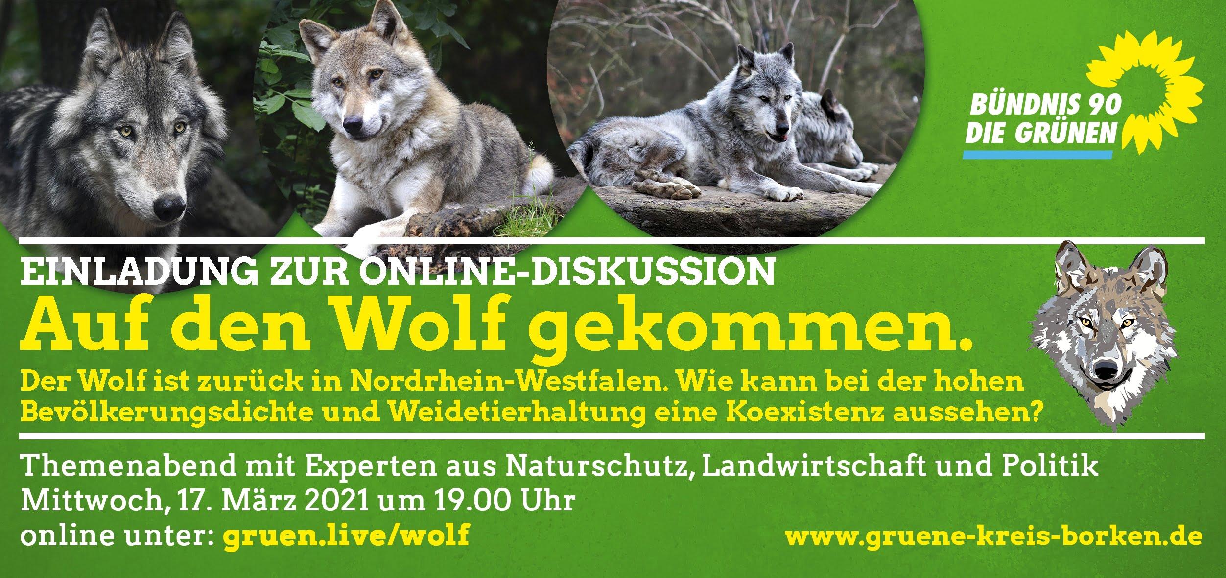 Einladung zur Online-Diskussion: Auf den Wolf gekommen