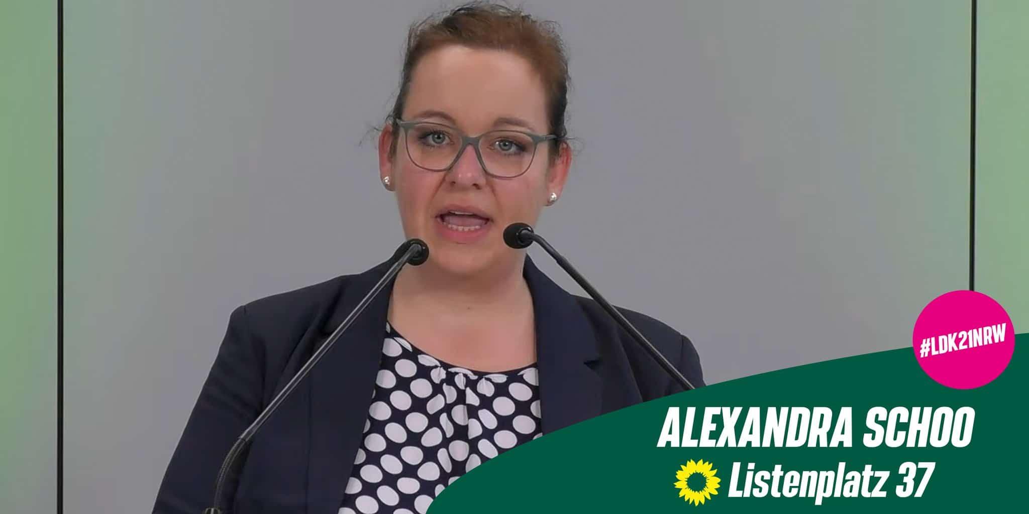 Alexandra Schoo auf die Landesliste der Grünen zur Bundestagswahl gewählt