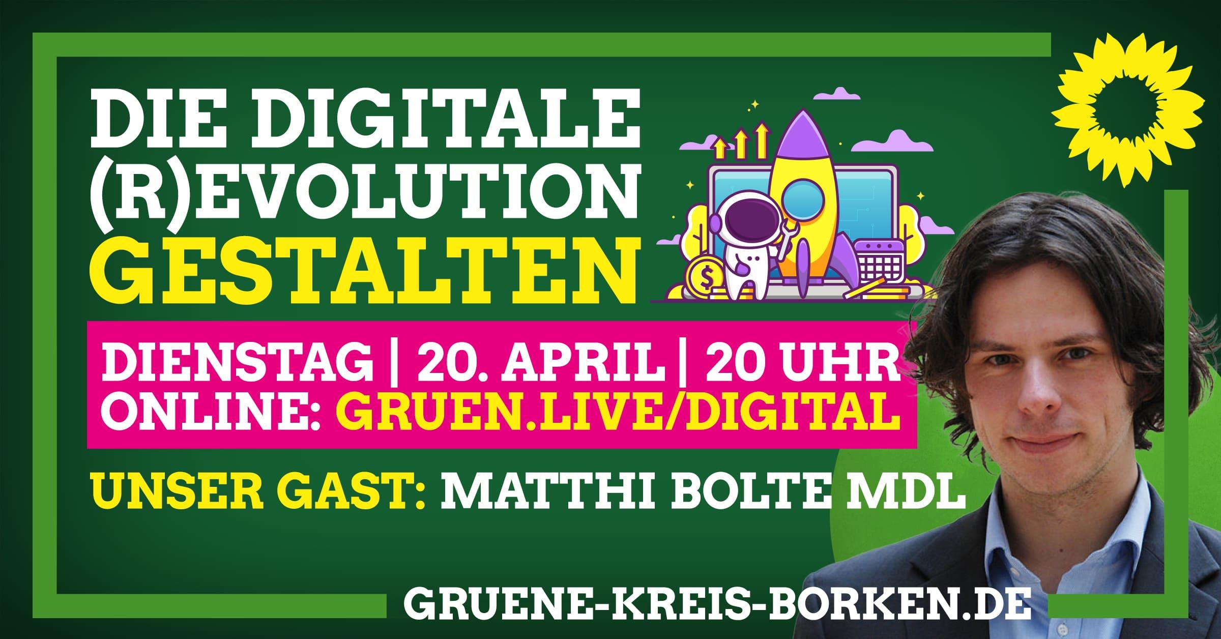 Einladung zur Online-Diskussion: Die digitale (R)evolution gestalten