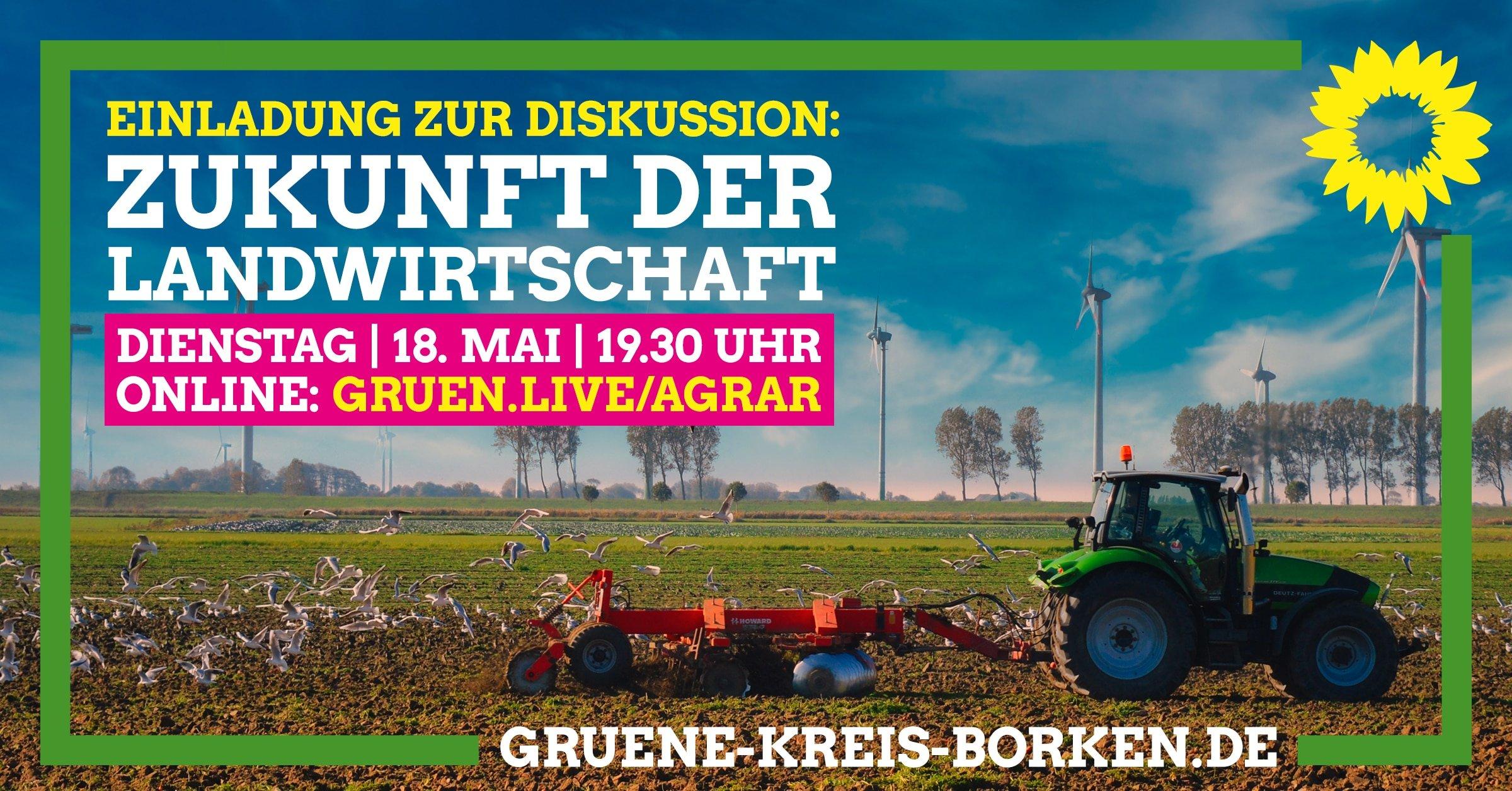 """Einladung zur Online-Diskussion: """"Zukunft der Landwirtschaft"""""""