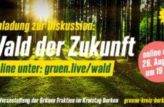 Einladung zur Online-Diskussion: Wald der Zukunft