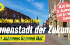 Einladung zur Diskussion mit Johannes Remmel MdL: Innenstadt der Zukunft